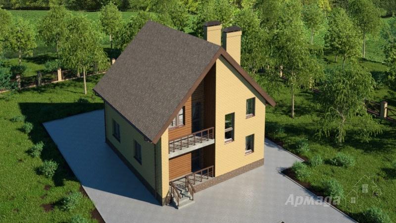 Проект компактного дома с мансардой #96a - проекты домов с м.